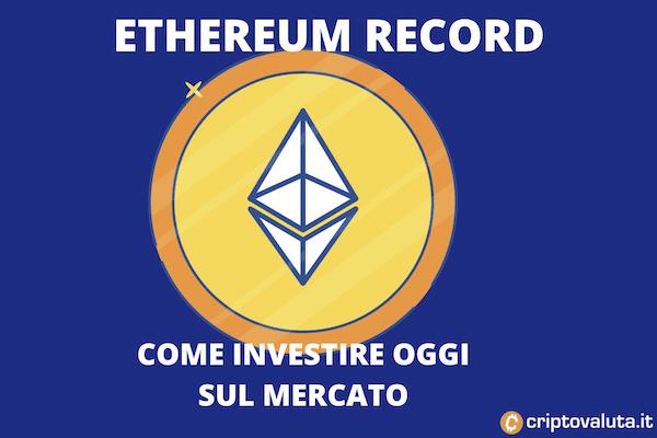 Ethereum - analisi tecnica sul record