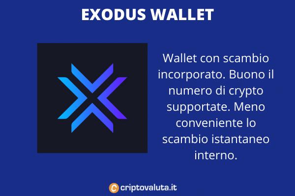 Exodus Wallet - a cura di Criptovaluta.it