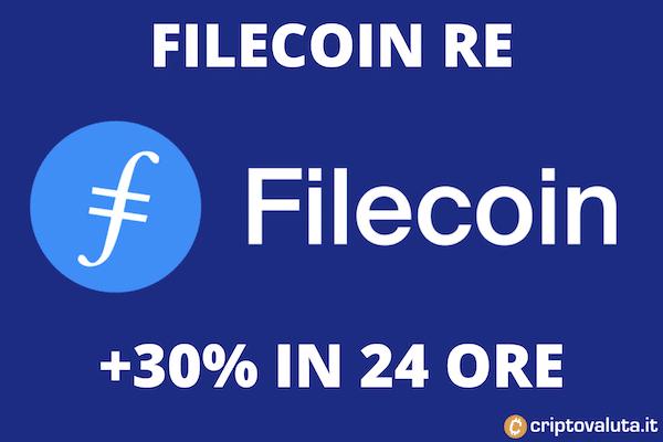 Filecoin boom - nono posto capitalizzazione
