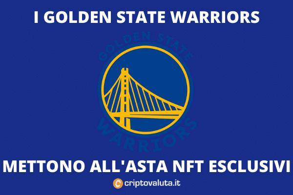 Golden State Warriors asta NFT