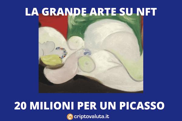 Justin Sun di Tron compra un Picasso da 20 milioni