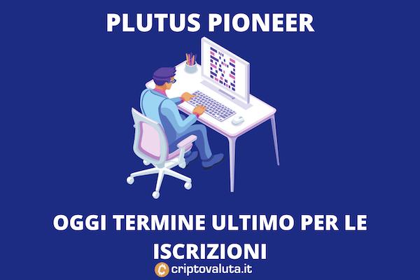 Plutus Pioneer Cardano - termine programma