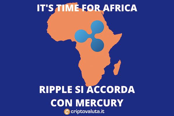 Mercury accordo con Ripple