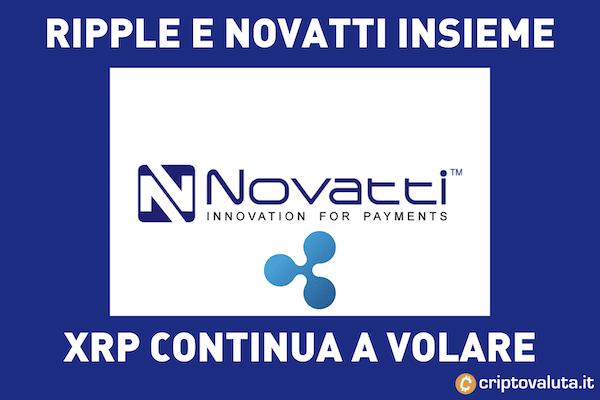 Ripple e Novatti insieme - boom per XRP sul mercato