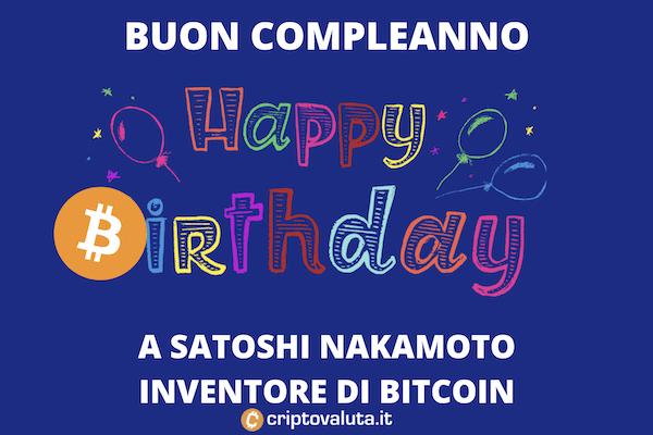 Satoshi Nakamoto - compleanno - 5 aprile