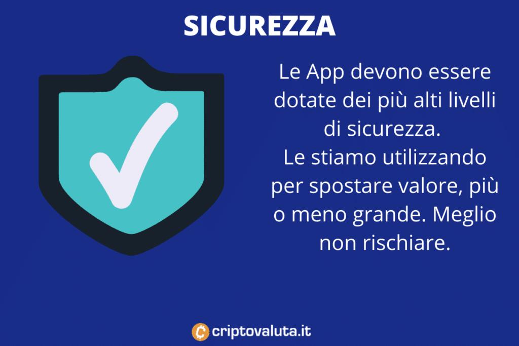 App Bitcoin sicurezza - a cura di Criptovaluta.it