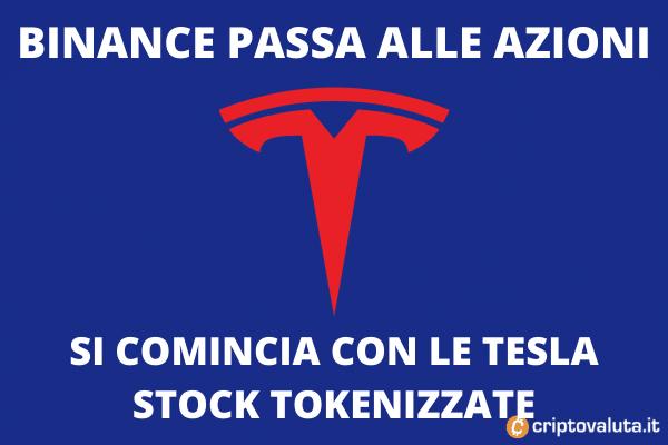 Tesla azioni tokenizzate