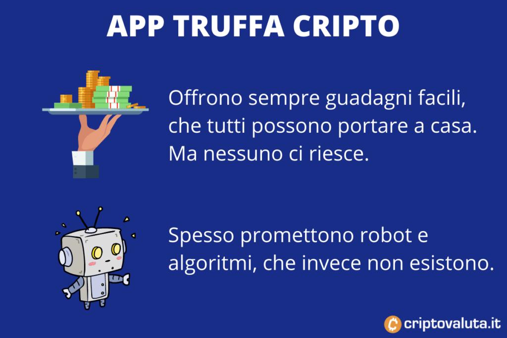 App Truffe Bitcoin e cripto - a cura di Criptovaluta.it