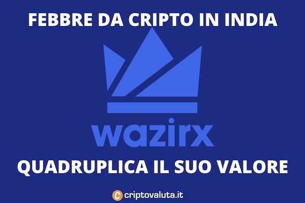 Wazirx vola - e accompagna l'India nel futuro delle cripto