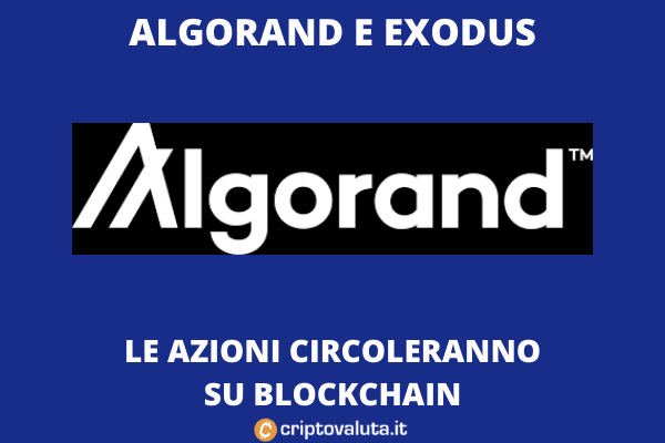 Algorand Exodus  - azioni in Blockchain