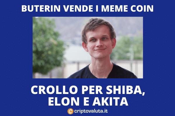 Buterin vende meme token per beneficenza
