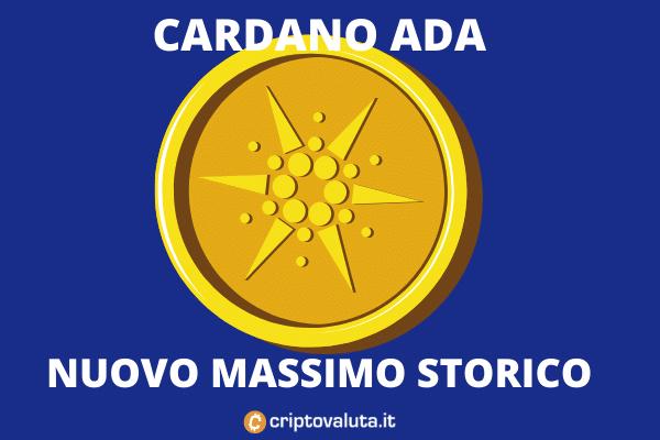 Massimo storico per Cardano ADA - analisi di Criptovaluta.it