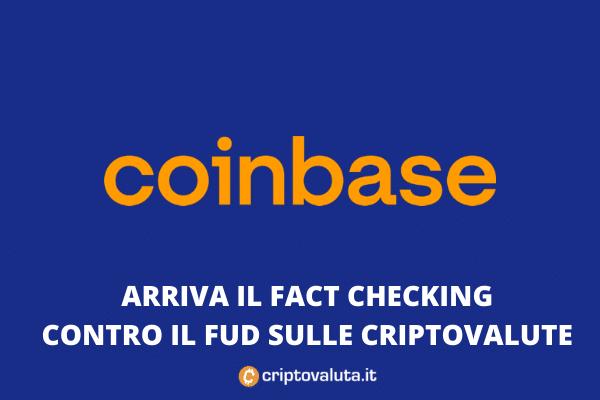 Coinbase combatte il FUD con Fact Check