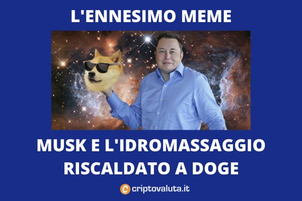 Musk DOGE MEME - ultima trovata - analisi di Criptovaluta.it