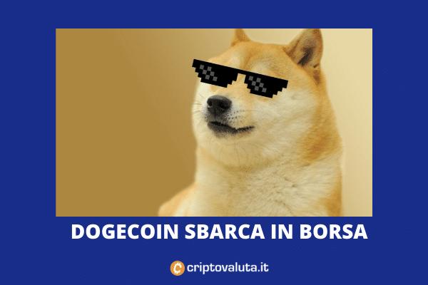 Dogecoin quotato in borsa