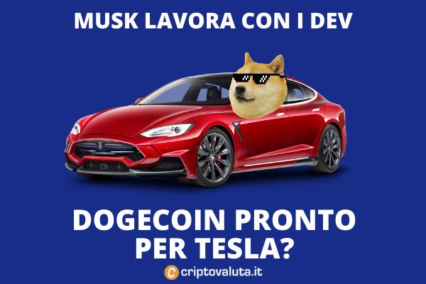 Doge Tesla - miglioramento transazioni per pagamenti