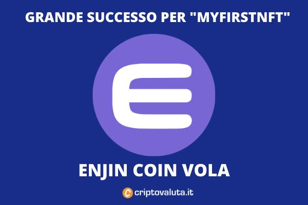 Enjin coin vola sul mercato - analisi di Criptovaluta.it