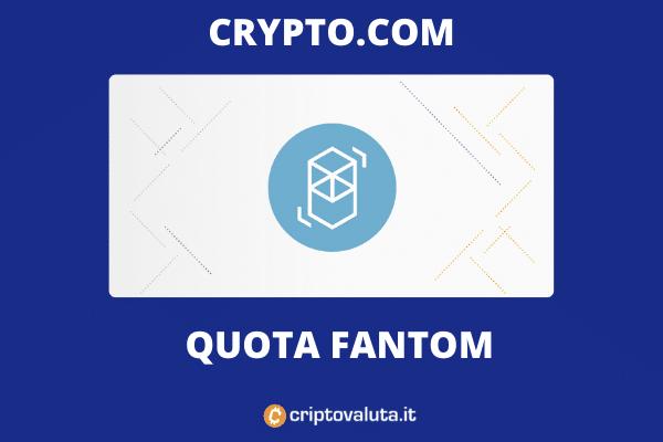 Crypto.com quota Fantom sui suoi listini