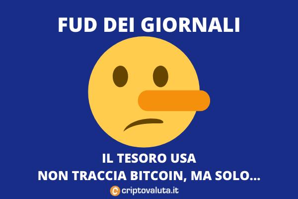 IRS e Tesoro USA: fud sui giornali non specializzati in Bitcoin