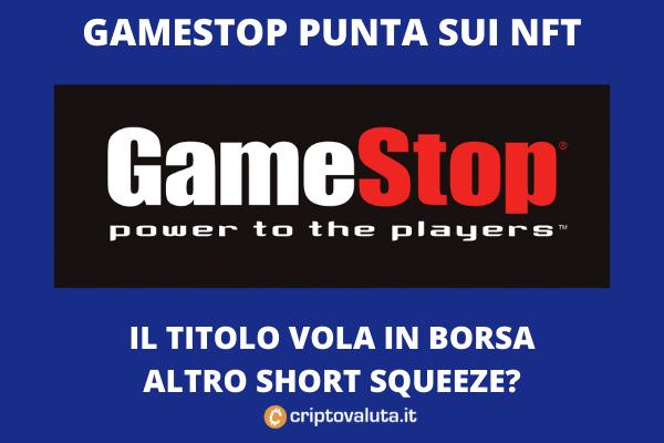GameStop annuncia NFT per videogiochi digitali