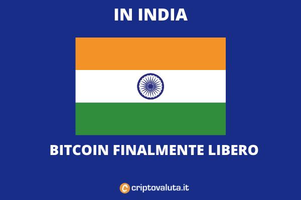 Bitcoin torna in India - di Criptovaluta.it