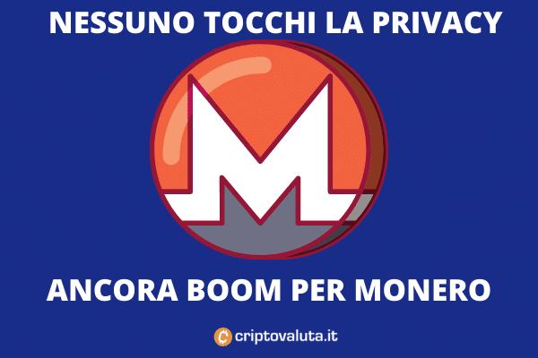 Boom di Monero - l'analisi di Criptovaluta.it