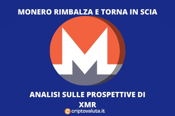 Monero rimbalza - l'analisi di Criptovaluta.it