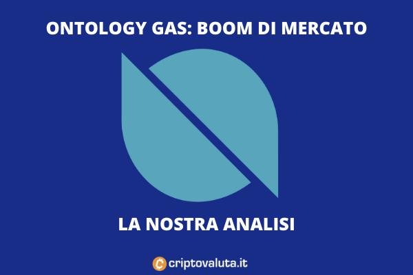 Ontology Gas boom di mercato - analisi di Criptovaluta.it