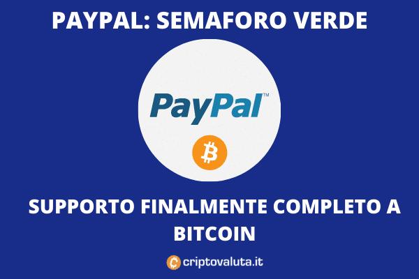 PayPal apre le porte a Bitcoin: presto anche scambi verso wallet