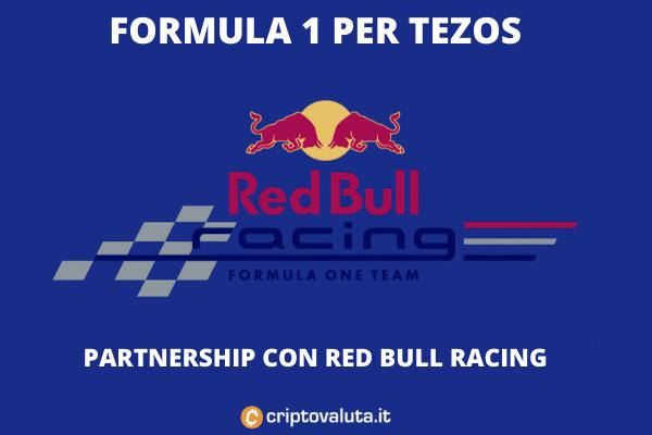 Tezos Redbull Racing Team con Tezos