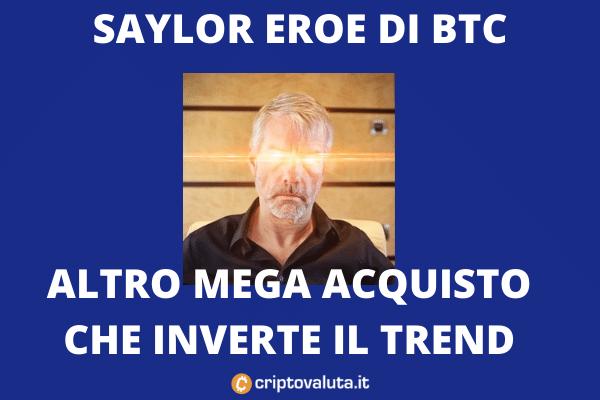 Saylor compra ancora BTC - approfondimento di Criptovaluta.it