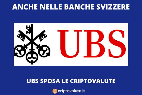 Cripto-investimenti da UBS