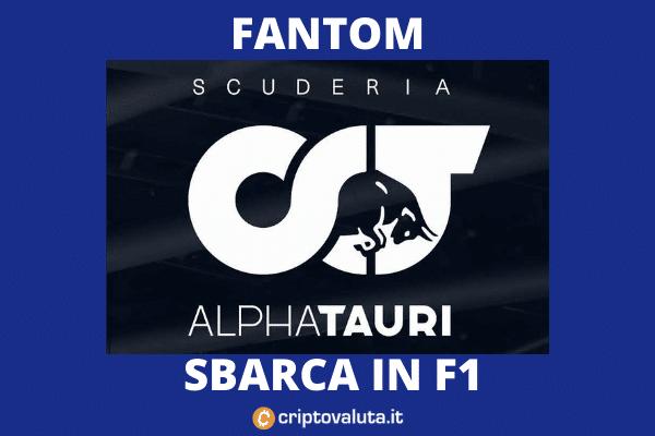 Fantom alphatauri f1 sponsor