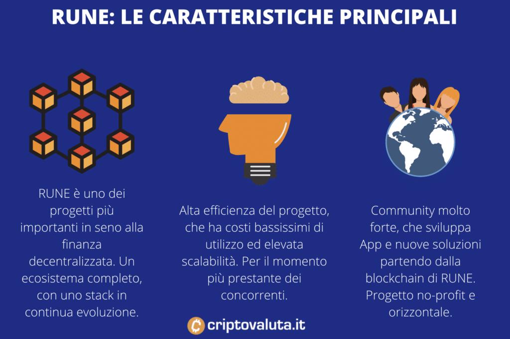 Le caratteristiche principali di RUNE - a cura di Criptovaluta.it