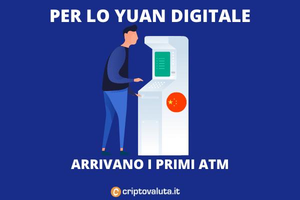 ATM per stranieri Yuan digitale