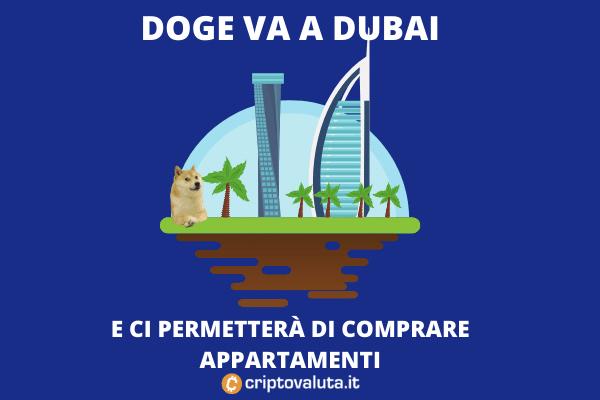 Dogecoin dubai per l'acquisto di appartamenti