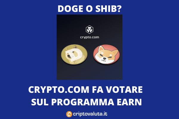 Shib vs Doge - da Crypto.com arriva lo staking