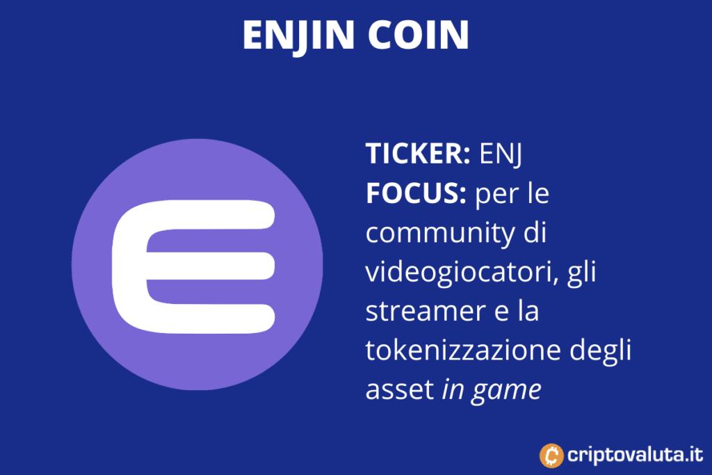 Enjin Coin - Scheda a cura di Criptovaluta.it