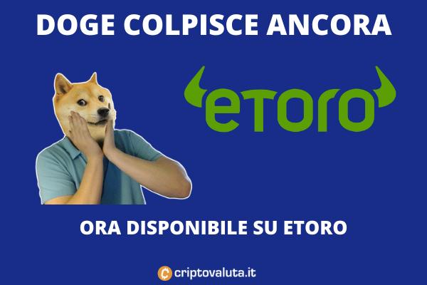 eToro Doge a listino