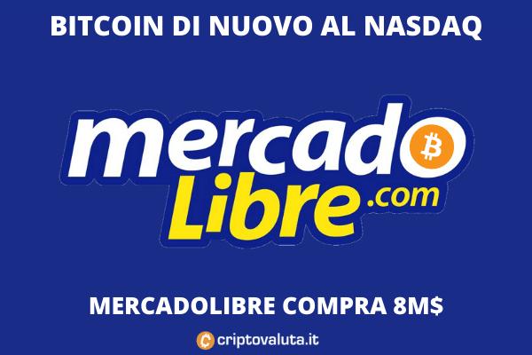 MercadoLIbre compra 8 milioni di bitcoin