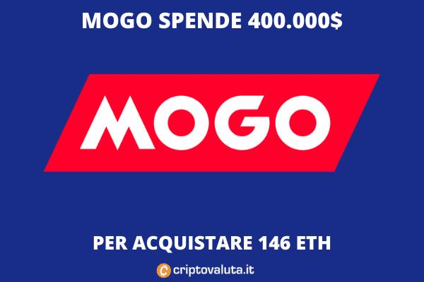 Mogo entra in Ethereum