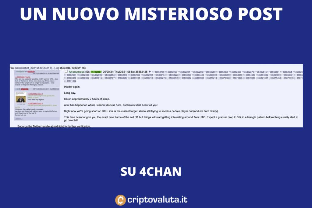 4chan - un nuovo post su BTC