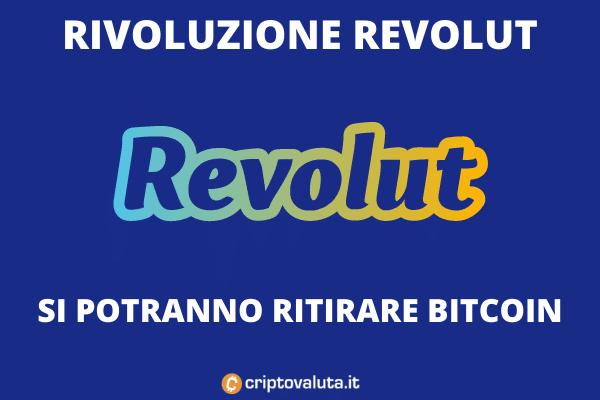 Revolut prelievo in Bitcoin