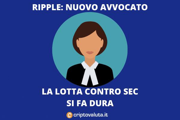 Arriva un nuovo avvocato per Ripple - di Criptovaluta.it