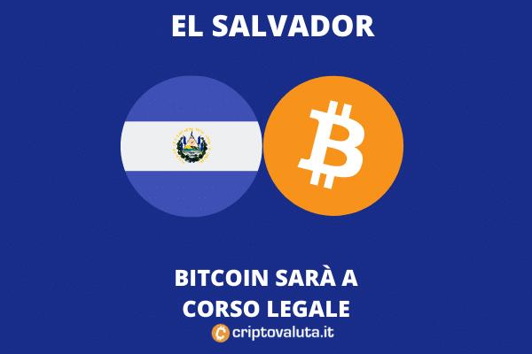 El Salvador e Bitcoin: BTC in parallelo come valuta a corso legale