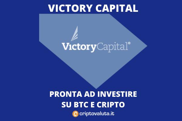 Victory Capital pronta ad investire in cripto