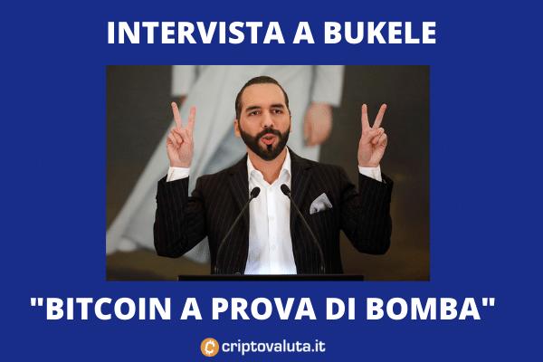 Bukele Bitcoin - intervista su YouTUbe