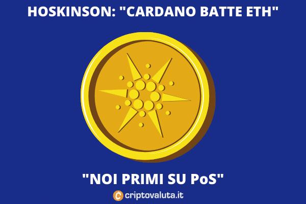 Cardano vs ETH - Hoskinson all'attacco