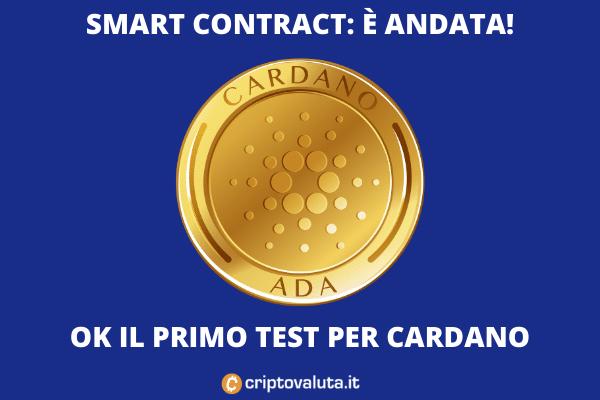 Cardano ok primo test smart contract - di Criptovaluta.it
