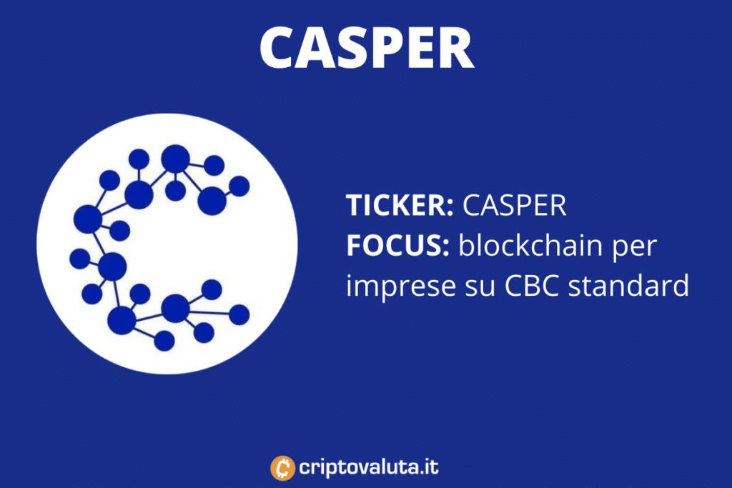 Scheda riassuntiva del progetto Casper - di Criptovaluta.it